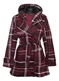 Womens Long Sleeve Belted Button Fleece Coat Size 8 10 12 14 16 18 20 22 24 26