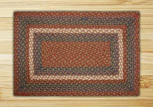 Earth Rugs Rc-040 Rectangular Rug, 8 x 10 , Burgundy Gray