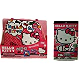 "3 Pack - 100 Piece Hello Kitty Puzzle in Carry & Go Cute Tote Bag with Zipper (9.1""x10.3"") and 216 Hello Kitty Stickers"