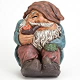 Bits and Pieces – Funny Sitting Gnome Garden Sculpture – Garden Gnome – Outdoor Garden Statue – Hand Painted Durable Weather Resistant Polyresin Sculpture For Sale