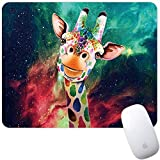 Marphe Mouse Pad Nebula Giraffe Painting Mousepad Non-Slip Rubber Gaming Mouse Pad Rectangle Mouse Pads for Computers Laptop