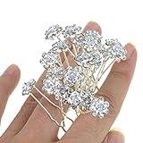 Rbenxia Bridal Wedding Crystal Hair Pins Bridal Prom Clips Pack of 20pcs