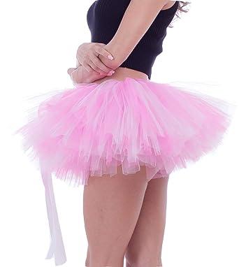 a6075cde48 FEOYA - Disfraces de Tutú Falda Cortas Mujer Adulto de Ballet Traje de Tul  Falda Hinchada Enaguas Fiesta Carnaval con Múltiples Capas Gasa Suave -  Colorido ...