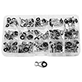 Asixx Fishing Rod Guides, 15 Different Fishing Guide Tip Made of Stainless Steel Material,Packed in a Plastic Box, Easy to Store and Transport,Ideal Fishing Accessories