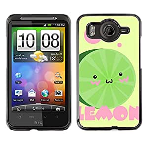 CASEX Cases / HTC G10 / Cute Funny Watermelon # / Delgado Negro Plástico caso cubierta Shell Armor Funda Case Cover Slim Armor Defender