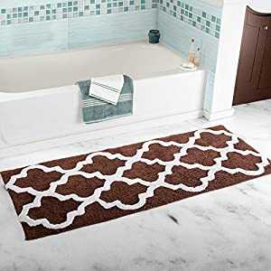 "Kitchen Mat, U'Artlines Decorative Non-slip Microfiber Doormat Bathroom Mats Shower Rugs for Living Room Floor Mats Special Design (17.7x47"", Brown)"