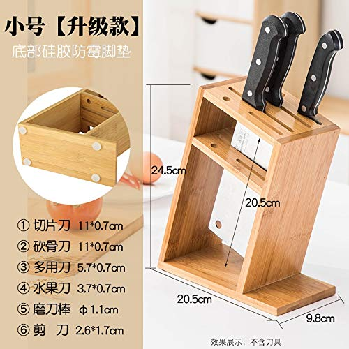 - Best Quality - Blocks & Roll Bags - Bamboo Knife Holder Simple Combination Knife Seat Kitchen Supplies Ventilation Anti-Mold Dish Knife Shelf Tool Storage Rack 15 - by SeedWorld - 1 PCs