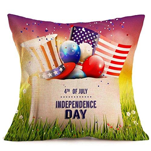 - Creazy Vintage American Flag Pillow Cases Linen Sofa Cushion Cover Home Decor (C)