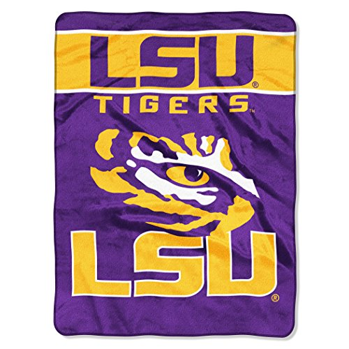 The Northwest Company Officially Licensed NCAA LSU Tigers Basic Raschel Throw Blanket, 60