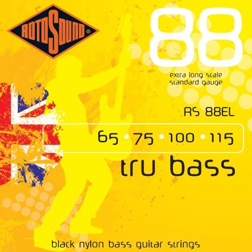 Rotosound RS88EL Black Nylon Flatwound Extra Long
