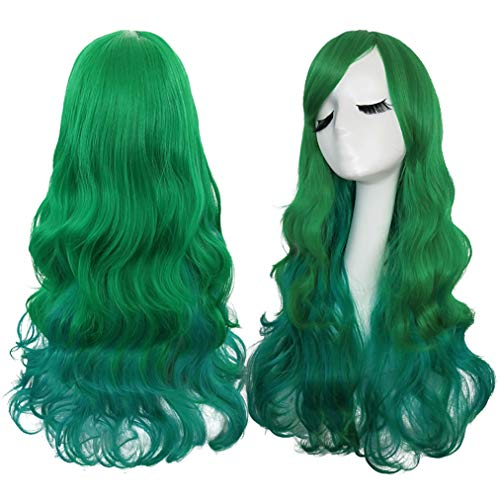 Rbenxia Curly Cosplay Wig Long Hair Heat Resistant Spiral Costume Wigs 25.6