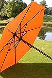 Plantation Prestige Commercial Furniture 9719-01-5807 Octagonal Umbrella, Steel Material Type, 7', Red Fabric/Platinum Pole
