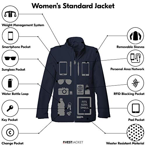 SCOTTeVEST Women's Standard Jacket -Travel Clothing - Travel Jacket for Women (BGE S) Beige