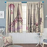 Best Norbi Curtains For Living Rooms - Chaneyhouse Kiss Window Curtain Fabric Floral Paris Symbols Review