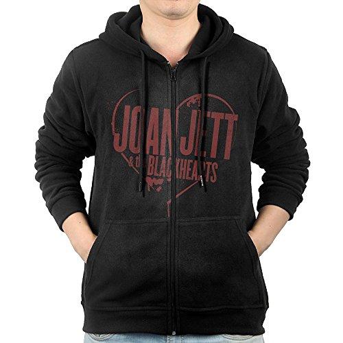 KIHOYG Men's Jett The Blackhearts Hooded Zip Front (Rockstar Custome)