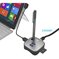 MAKETECH Mini Multi-function Surface Pro 4/3 USB 3.0 Hub Docking Station , with 2 USB 3.0 Ports, 1 Gigabit Ethernet Port and SD/TF Card Slot for Microsoft Surface, Macbook, Ultrabook and Laptop