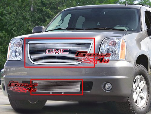 (APS Fits 2007-2013 GMC Yukon Billet Grille Grill Insert Combo #G67623A)