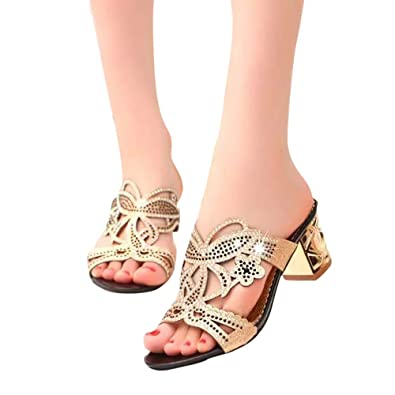ec9cce8a0bc8 Judi Women Summer Fashions Shoes Girl Flower Sandals Beach Shoes Sparkling  Slipper Openwork Rhinestone Women s Sandals