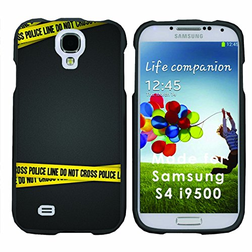 Police Crossing - Mobiflare Samsung Galaxy S4 Slim Guard Armor Black Phone Case Please verify your phone model (Samsung S4 Police Case)