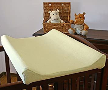 White Changing Mat Cover Terry 70x50 cm with Raised Edges