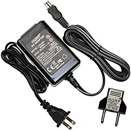 HQRP Replacement AC Adapter / Charger compatible with Sony HandyCam CCD-TRV308, CCD-TRV318, CCD-TRV328, CCD-TRV338 Camcorder with USA Cord & Euro Plug Adapter