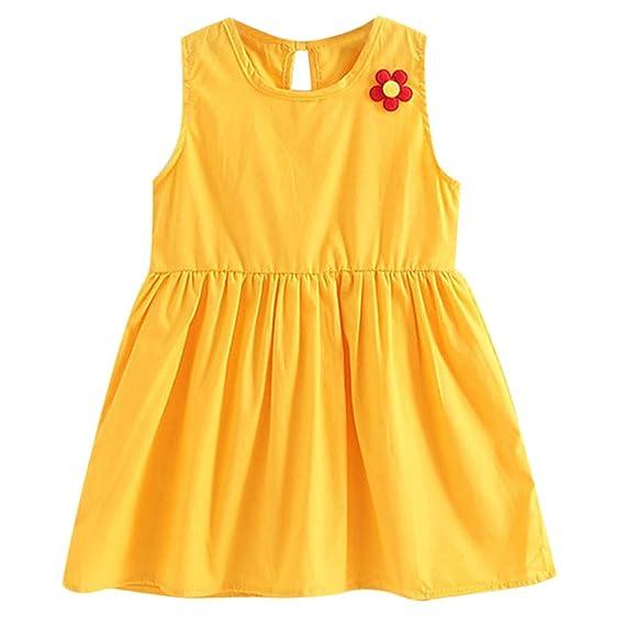 Gusspower Vestido Bebé Niña Linda Vestido de Princesa Niña Tutú Apliques Falda del Chaleco Sin Mangas