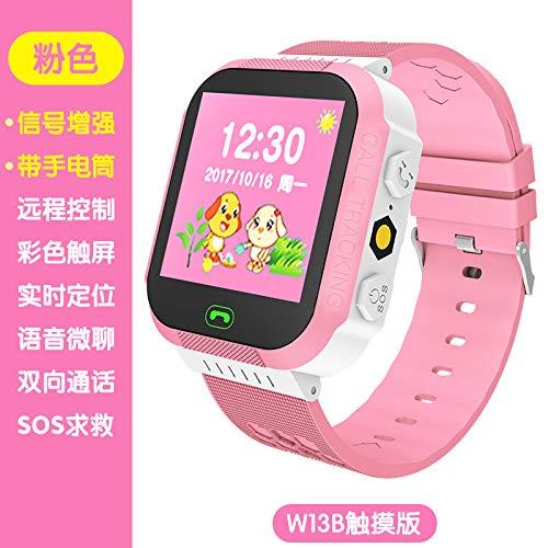 China unicom Mobile Phone Watch Girl Child Student Phone Calls Intelligent Positioning Camera Waterproof Multi-Function Watch Boys Girls Kindergarten (w13b Pink [touchpad]