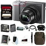 Panasonic Lumix DMC-ZS100 Digital Camera (Silver) Bundle (Panasonic Battery and Charger Kit)