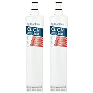 Clear Choice CLCH100 Replacement for 4396508 4396510 Refrigerator Water Filter Compatible with EDR5RXD1 EFF-6002A, NSF/ANSI 42 Certified, Box of 2, Made in the USA