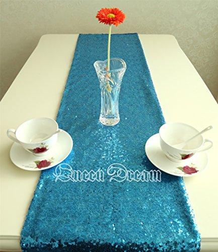 QueenDream sheer sequin table runner 14