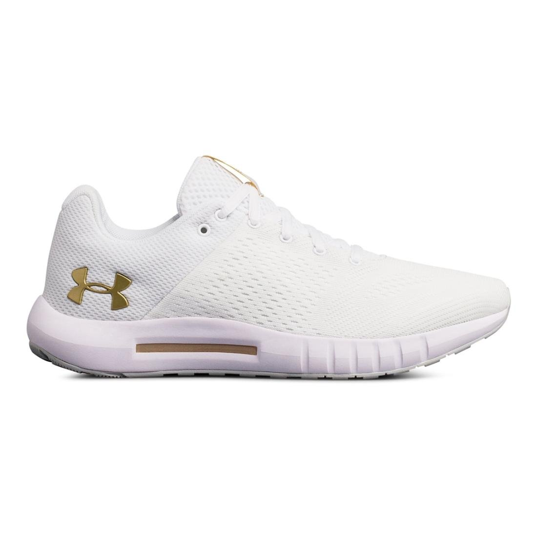 Under Armour Women's Micro G Pursuit Sneaker B075MPT78F 6 B(M) US|White/Elemental/Metallic Gold