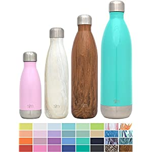 Simple Modern 17oz Wave Water Bottle - Vacuum Insulated Double Wall 18/8 Stainless Steel Hydro Swell Flask - Concept Collection - Sandstone