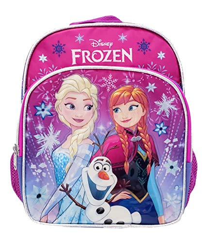 "Disney Frozen Toddler Backpack - Small 10"" Backpack - Snowflakes"