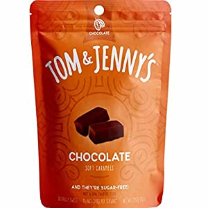 Tom & Jenny's Sugar Free Classic Soft Caramels - Sweetened with Xylitol and Maltitol (Chocolate Caramel, 1-pack)