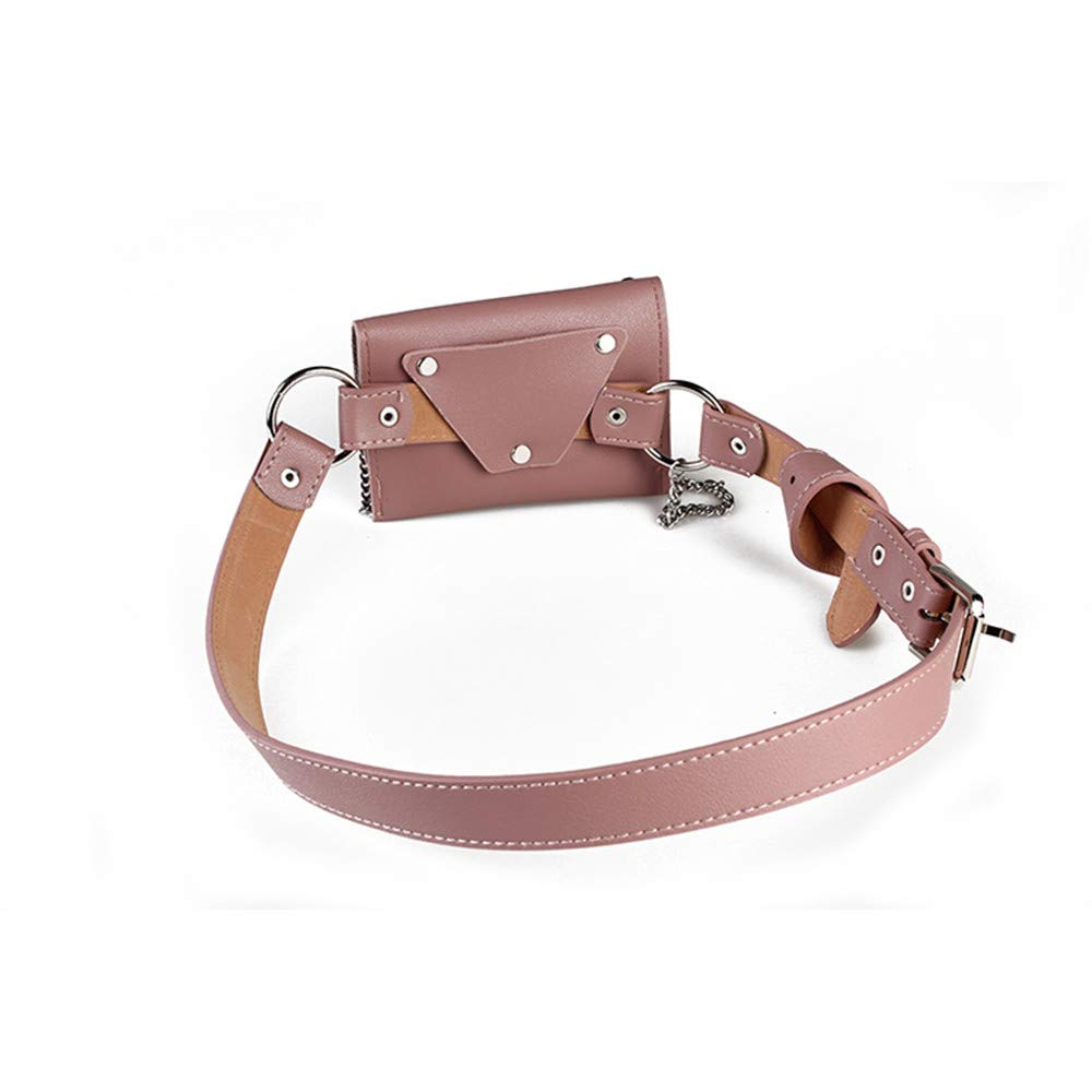 Color : Dark Green Hip Belt Bags Small Women Waist Bag Belt Bag with Chain PU Leather Fanny Pack Adjustable Removable Belt with Waist Pouch Mini Purse Wallet Travel Cell Phone Bag Men /& Women Slim