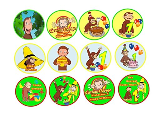 12-Curious-George-Image-Sheets-Cupcake-and-Cookie-Toppers-WaferRice-Paper