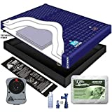 95% WAVELESS WATERBED MATTRESS/LINER/HEATER/PAD/FILL DRAIN/CONDITIONER KIT (California King 72x84 1L3B1)