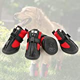 Grand Line Dog Boots Size XS Waterproof Pet Paw Protector with Wear-resistant and Anti-Slip Sole Set of 4