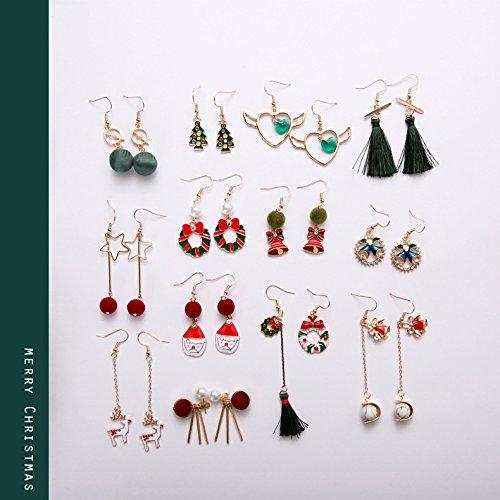 Cool Hand bells for Santa Claus earrings earrings Korean girls wind s collection of earrings ear (Santa Handbell)