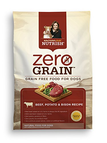 Rachael Ray Nutrish Zero Grain Natural Dry Dog Food, Beef, Potato, & Bison Recipe, Grain Free, 11 lbs