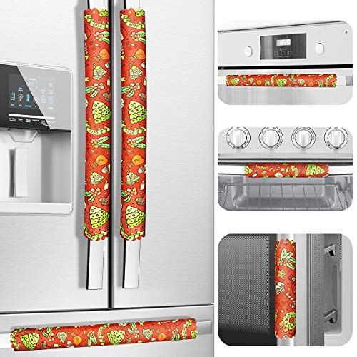 Christmas Refrigerator Door Handle Covers, Set of 6, One Size Fits All, Keep Your Kitchen Appliance Clean from Smudges…
