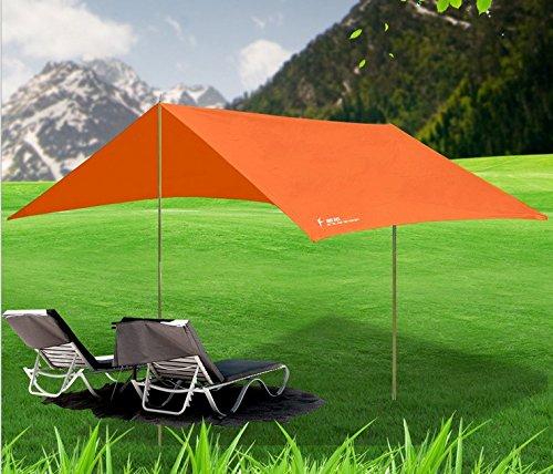 EDTara Lightweight Multi-functional Portable Waterproof Rain Tent Tabernacle Rain Fly Tent Tarp Shelter Sunshade for Hiking Camping - Oxford 3 Store Circus