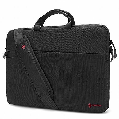 tomtoc 15.6 Inch Laptop Shoulder Bag for Acer Aspire E 15 | ASUS VivoBook 15.6 and Dell HP Samsung Lenovo Chromebook Notebook, 360° Protective Travel Case with Handle & Accessory Pocket