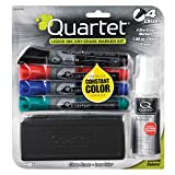 eraser spray - Quartet EnduraGlide Accessory Kit, 4 Chisel-Point Dry Erase Markers in Mixed Colors, With Eraser and Cleaning Spray (5001M-4SK)