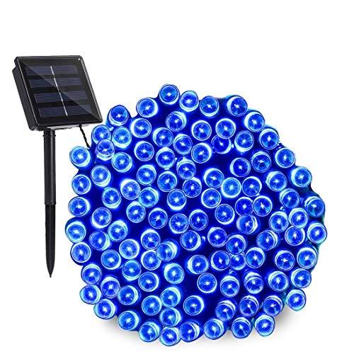 Blue Led Solar Fairy Lights in US - 9