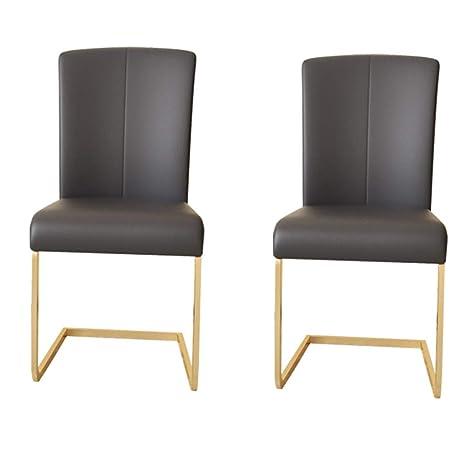Amazon.com: Juego de 2 sillas de comedor Lxn, patas de metal ...