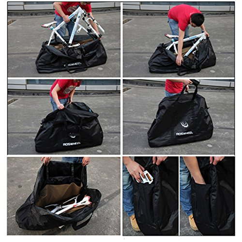Topnaca Soft Mountain Road Bikes Travel Case Transport Bag Bicycle Carrying Case with Fork Protector for Outdoor Airplane by Topnaca (Image #5)