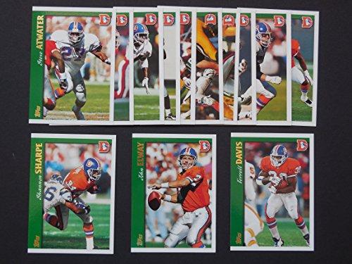 Denver Broncos 1997 Topps Football Team Set (Super Bowl Champions)**Allen Aldridge, Steve Atwater, Tyrone Braxton, Ray Crockett, Terrell Davis, John Elway, Willie Green, Anthony Miller, John Mobley, Bill Romanowski, Shannon - Ray Tyrone