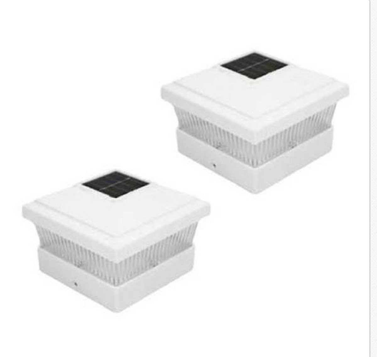 USA Premium Store 18 White 5 X 5 PVC Vinyl Outdoor Garden Solar Post Deck Cap Square Fence Lights by USA Premium Store