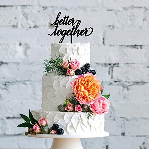 Better Together Cake Topper Wedding Cake Topper Bridal Sh...